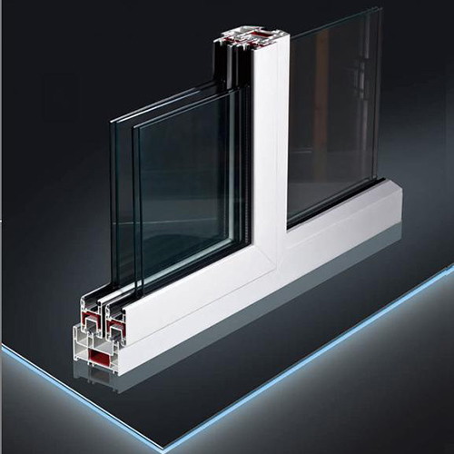UPVC Profiles with CE Certificate for Plastic Sliding Window and Door Three/Double Tracks Sliding PVC Window and Door Profiles